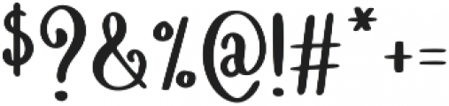 Spring Beets otf (400) Font OTHER CHARS