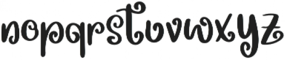 Spring Beets otf (400) Font LOWERCASE