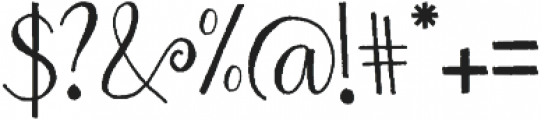 Spring Love otf (400) Font OTHER CHARS
