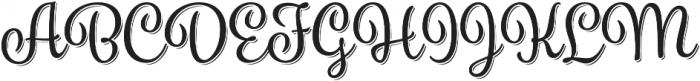 Spumante Regular plus Shadow otf (400) Font UPPERCASE