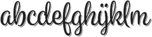 Spumante Regular plus Shadow otf (400) Font LOWERCASE