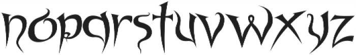 Spyced otf (400) Font LOWERCASE