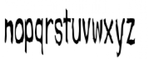 Spooky Two Font LOWERCASE