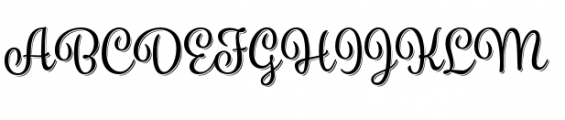 Spumante Regular plus Shadow Font UPPERCASE