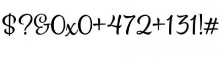 Spumante Regular Font OTHER CHARS
