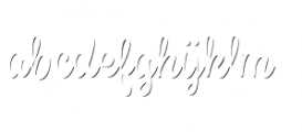 Spumante Shadow Font LOWERCASE
