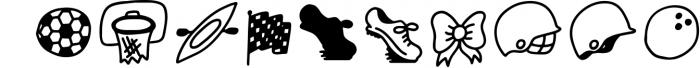 SPORTSBATS - Sporty Dingbats & Catchwords Font OTHER CHARS