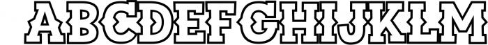 Sportsball - fun font with alternates! 4 Font UPPERCASE