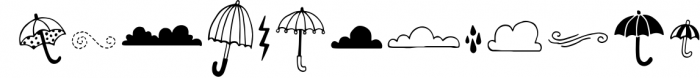 Spring Showers Font and Doodles Font LOWERCASE