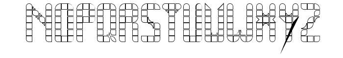 SPACE PEZ Outline Font UPPERCASE