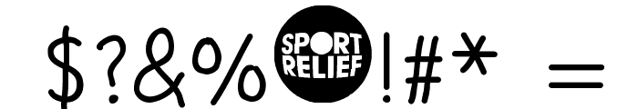 SPORT RELIEF Font OTHER CHARS