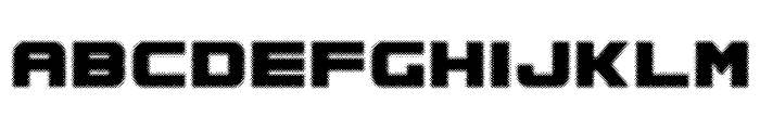 Spac3 halftone Font UPPERCASE