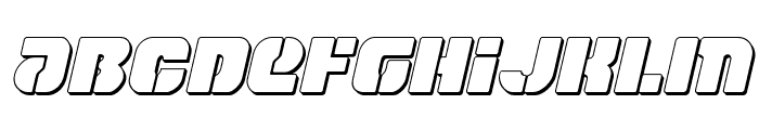 Space Cruiser 3D Italic Font UPPERCASE
