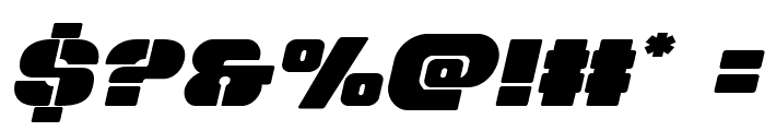 Space Cruiser Expanded Italic Font OTHER CHARS