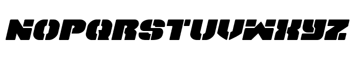 Space Cruiser Expanded Italic Font LOWERCASE