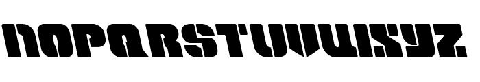 Space Cruiser Leftalic Font UPPERCASE