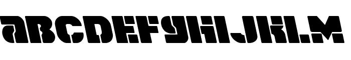 Space Cruiser Leftalic Font LOWERCASE