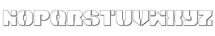 Space Cruiser Shadow Font LOWERCASE