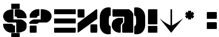 Space Cruiser Font OTHER CHARS