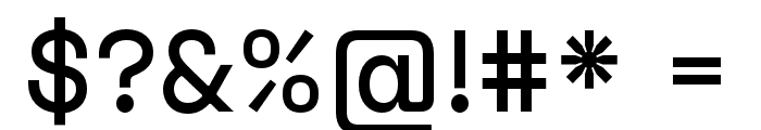 Space Grotesk Medium Font OTHER CHARS