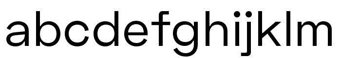 Space Grotesk Regular Font LOWERCASE