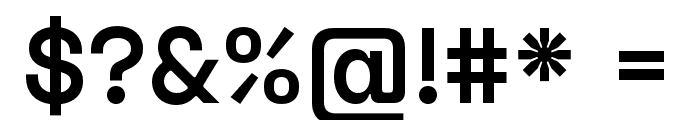 Space Grotesk SemiBold Font OTHER CHARS