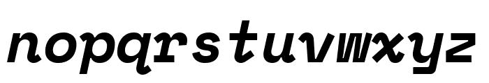 Space Mono Bold Italic Font LOWERCASE