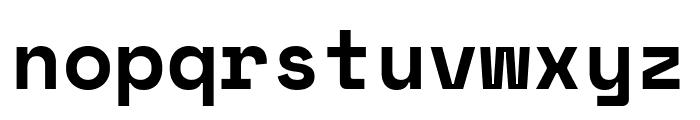 Space Mono Bold Font LOWERCASE
