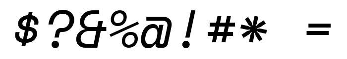 Space Mono Italic Font OTHER CHARS