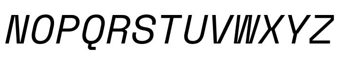 Space Mono Italic Font UPPERCASE