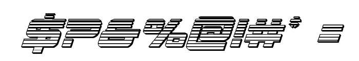 Space Ranger Chrome Italic Font OTHER CHARS