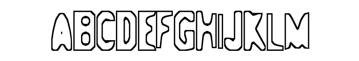 Space-ship 354 Font UPPERCASE