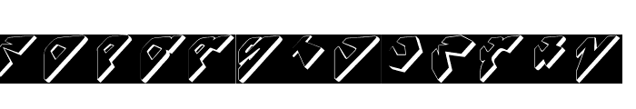 SpaceAttackTwo Font LOWERCASE