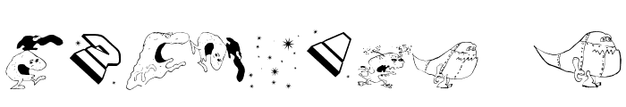SpaceAttacks Font OTHER CHARS