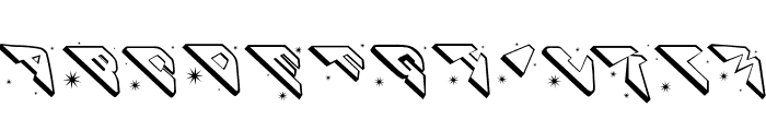 SpaceAttacks Font UPPERCASE