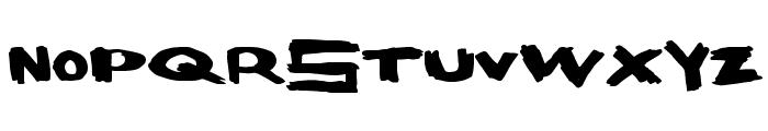 SpaceBang Font UPPERCASE