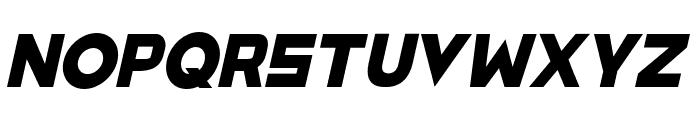 SpaceCapitan-Italic Font UPPERCASE