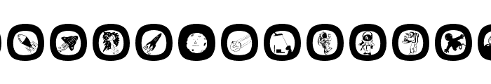 SpaceEggs Font LOWERCASE