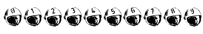 SpaceJunk BlastOff Font OTHER CHARS