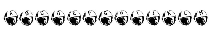 SpaceJunk BlastOff Font LOWERCASE