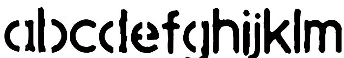 SpaceJunk Font LOWERCASE