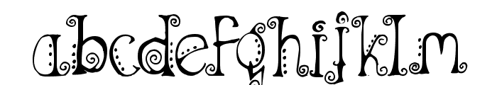 Spahrty Girl Font LOWERCASE