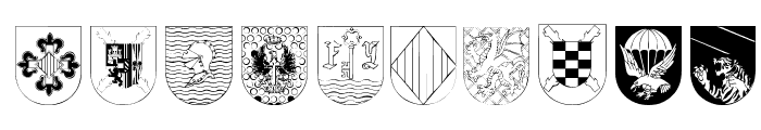 Spanish Army Shields Font OTHER CHARS
