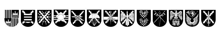 Spanish Army Shields Font UPPERCASE