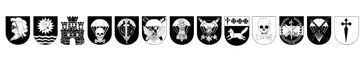 Spanish Army Shields Font LOWERCASE
