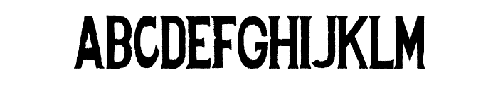 Spanish Stencil Font UPPERCASE