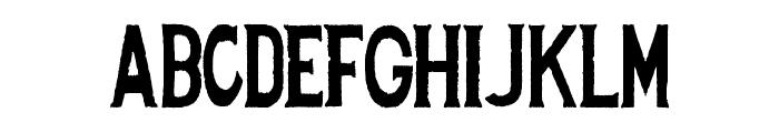 Spanish Stencil Font LOWERCASE