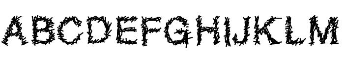 Sparatrap Font UPPERCASE