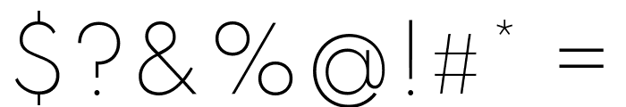 Spartan ExtraLight Font OTHER CHARS