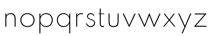 Spartan ExtraLight Font LOWERCASE